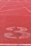 Die Zahl verwendet für Athleten Lizenzfreies Stockbild
