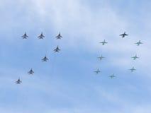 Die Zahl von 70 Flugzeugen Stockbild