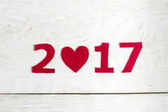 Die Zahlen des neuen Jahres Lizenzfreies Stockfoto