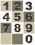 Die Zahlen, die von den Fotofeldern gebildet werden, stecken Ihre Fotos ein lizenzfreie abbildung