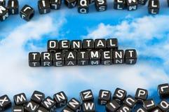 Die zahnmedizinische Behandlung des Wortes Lizenzfreie Stockbilder