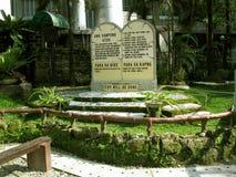 Die zehn Gebote, Nationalheiligtum der göttlichen Gnade in Marilao, Bulacan Stockbilder