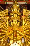 Die Zehntausend übergibt Buddha-Statue Lizenzfreie Stockbilder