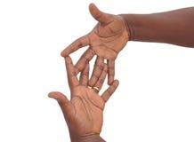 Die 10 Zeichen der Hand, im Ausland zu vermeiden Lizenzfreie Stockbilder