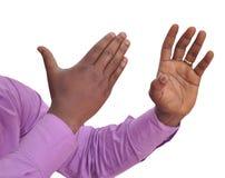 Die 10 Zeichen der Hand, im Ausland zu vermeiden Lizenzfreies Stockfoto