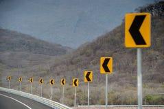 Die Zeichen zeigen nach links an Lizenzfreies Stockfoto