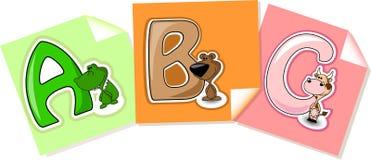 Die Zeichen zum Alphabet für Kinder Lizenzfreies Stockbild