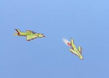 Die Zeichnung der Kinder des Luftkampfes Lizenzfreie Stockbilder