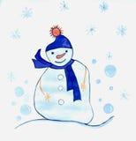 Die Zeichnung der Kinder frohe Feiertage! Lizenzfreie Stockfotos