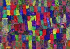 Die Zeichnung der Kinder von abstrakten Stellen Stockbilder