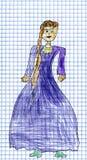 Die Zeichnung der Kinder von Prinzessin Stockfotografie