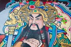 Die Zeichnung des chinesischen Gottes auf der Tür Lizenzfreie Stockbilder