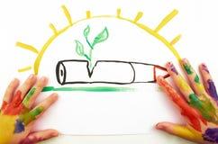 Die Zeichnung des Kindes Lizenzfreies Stockfoto
