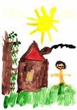 Die Zeichnung des Kindes Lizenzfreie Stockfotos