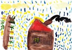 Die Zeichnung des Kindes Stockbild
