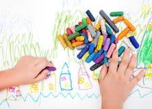 Die Zeichnung des Kindes Stockfoto
