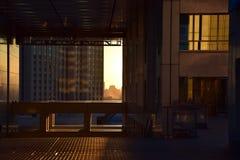 Die Zeit des Sonnensatzes Stockfotografie