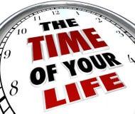 Die Zeit Ihrer Leben-Borduhr erinnern sich an gute Zeit-Speicher Lizenzfreie Stockfotos