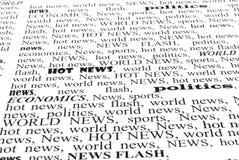 Die Zeitung Stockbild