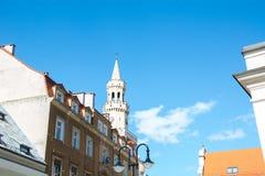 Die zentrale Teilstadt von Opole in Polen Stockfotografie