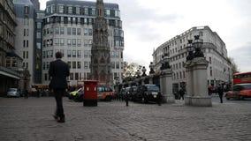 Die zentralen Straßen von London stock video footage