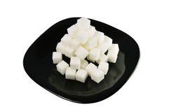 Die zerstörte Pyramide des Zuckers Lizenzfreie Stockfotos