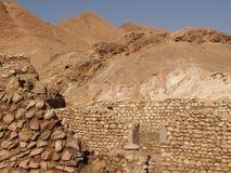 Die zerstörten Wohnungen von Berbers stockfotografie