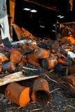 Die Zerstörung des Feuers lizenzfreies stockbild