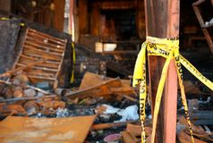 Die Zerstörung von Feuer 05 stockfotografie