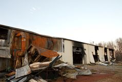 Die Zerstörung von Feuer 11 stockfoto