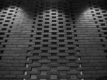 Die Ziegelsteine und die Lichter Stockfoto