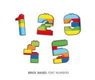 Die Ziegelsteinzahlen, die vom Ziegelstein geschaffen wurden, basierten Alphabet vektor abbildung