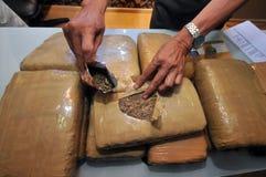 Die Zirkulation des Marihuanas in einer Strafanstalt stockfoto