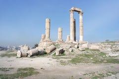 Die Zitadelle, Amman, Jordanien Lizenzfreies Stockbild