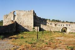 Die Zitadelle und die Festung von Kala bei Berat lizenzfreies stockbild