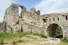 Die Zitadelle und die Festung von Kala bei Berat lizenzfreie stockfotografie