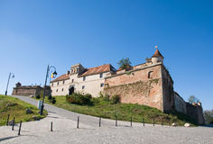 Die Zitadelle von Brasov, Rumänien stockbilder
