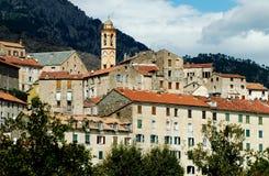 Die Zitadelle von Corte, Korsika Lizenzfreies Stockfoto