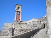 Die Zitadelle von Korfu Stockbilder