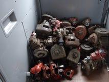 Die Zugteile an Bord von dem transmongolian drücken aus Stockfotografie