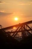 Die Zusammensetzung der untergehenden Sonne Stockfotografie