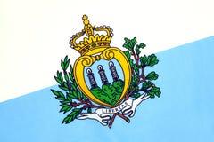 Die Zustands- und Kriegsflagge von San Marino Stockfotos