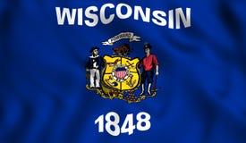 Die Zustandsflagge von Wisconsin stock abbildung