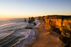 Die zwölf Apostel bei Sonnenuntergang Lizenzfreies Stockbild