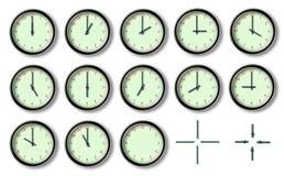 Die zwölf Stunde der Borduhr lizenzfreie abbildung
