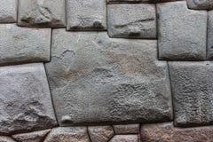 Die zwölf versahen Stein, Cusco, Peru mit Seiten lizenzfreies stockfoto