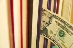Die zwanzig-Dollar-Anmerkung im Buch Lizenzfreie Stockfotos