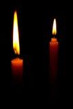 Die zwei Kerze Lizenzfreie Stockfotos
