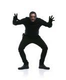 Dieb in der schwarzen Maske Stockfotos