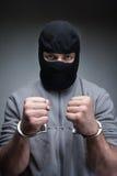 Dieb in der schwarzen Maske Lizenzfreies Stockfoto